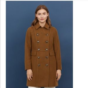 H&M double breasted brown coat